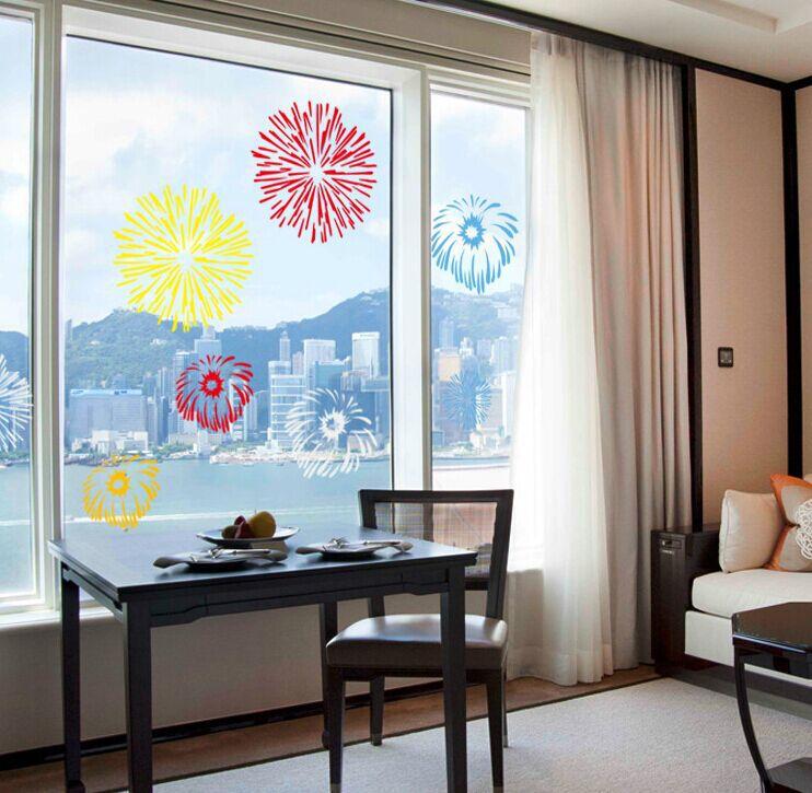 abq9702 fajerwerki szafka szko okna decor vinyl kalkomania cienna naklejki cienne dekoracje home decor darmowa wysyka