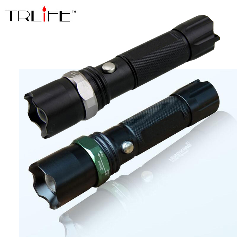 3800 Lumens Tactical Flashlight LED CREE Flash Light High Power Torch Zoomable Flashlight For 18650 Battery