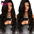 150%Density Natural Wavy Lace Front Wigs Glueless Full Lace Wigs Virgin Peruvian Human Hair Wigs Body Wave Lacefront Wig