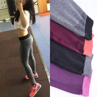 4 Colors Women Yoga Sports Elastic Pants Force Exercise Tights Female Sports Elastic Fitness Running Trousers