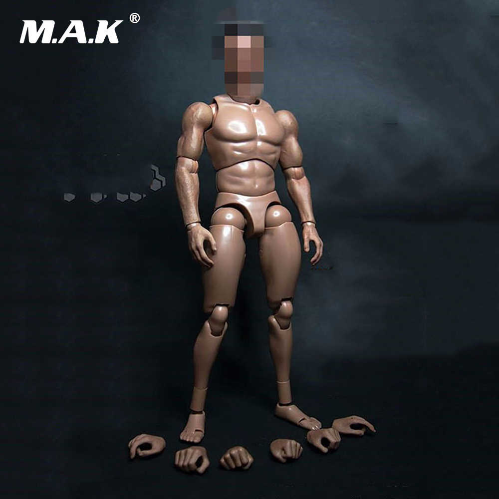 12 Inches Male Muscular Body Figures without Neck For 1/6 Scale Mens Head Sculpts Gifts Collections Toys
