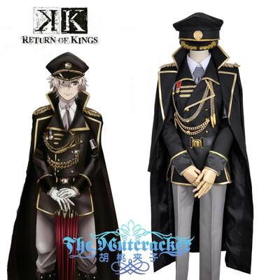 Anime! K RETURN OF KINGS Isana Yashiro Military Uniform Cosplay Costume coat+shirt+pants+trench+belt+tie+hat Free Shipping