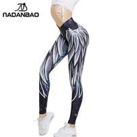 NADANBAO New Arrival Angel Wing Women Leggings Harajuku 3D Printed Leggins Push Up Sporting Fitness Bodybuilding