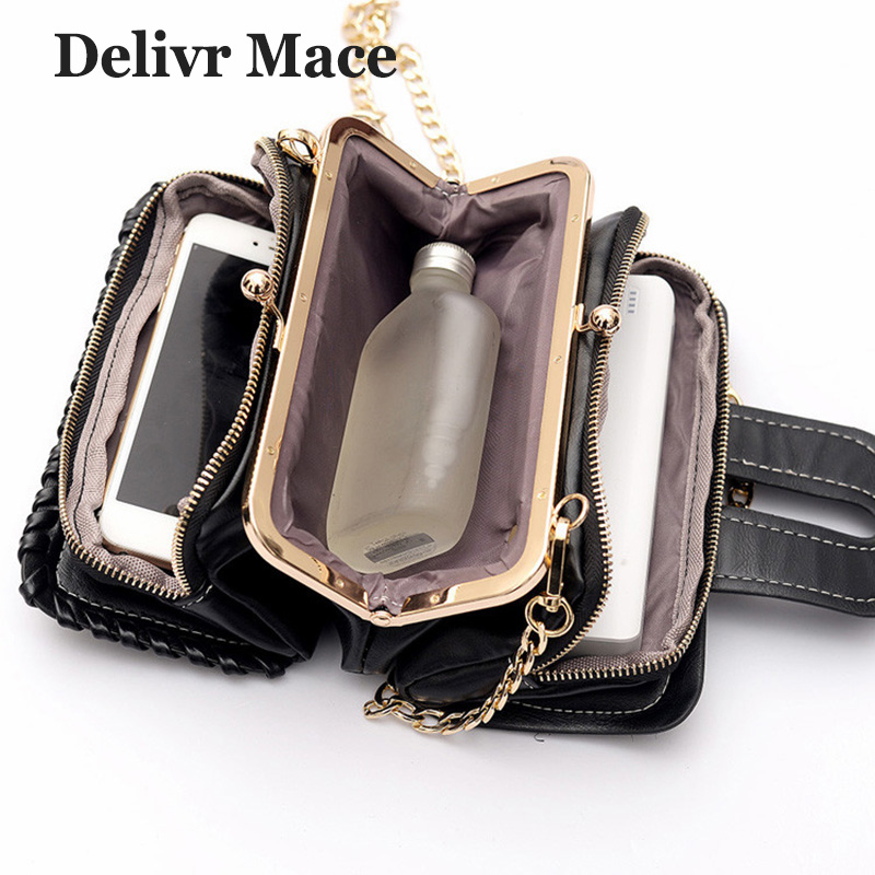 Sequin PU Women's Messenger Bags Black Small Women Crossbody Bags High Quality Fashion Girl Shoulder Bag Female Clutch Bag 2018 fashion women pu leather bag high quality mini handbags lady messenger bags chain shoulder crossbody bag for female small clutch page 1