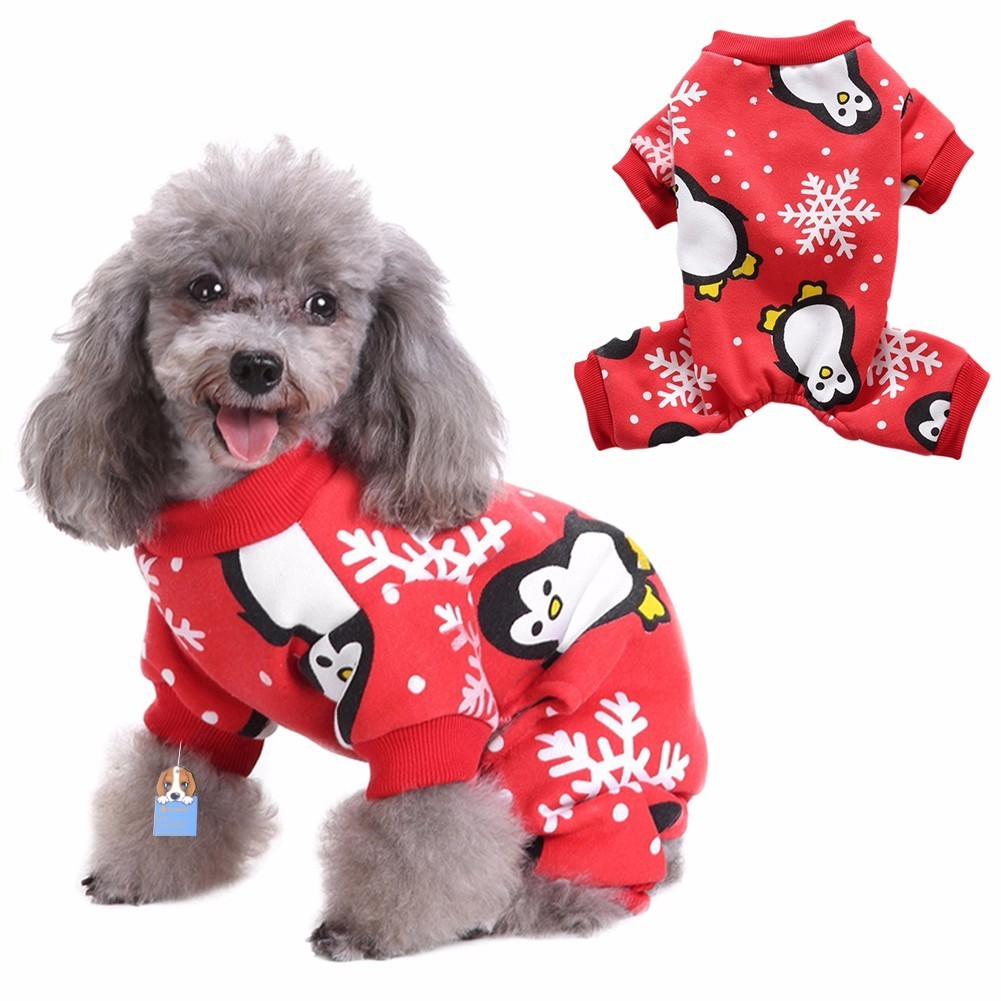 Christmas Pajamas For Dog.Us 5 84 32 Off Taonmeisu Christmas Dog Pajamas Winter Warm Three Styles Santa Claus Snowflake Four Legged Clothes Sleeping Clothing In Jumpsuits