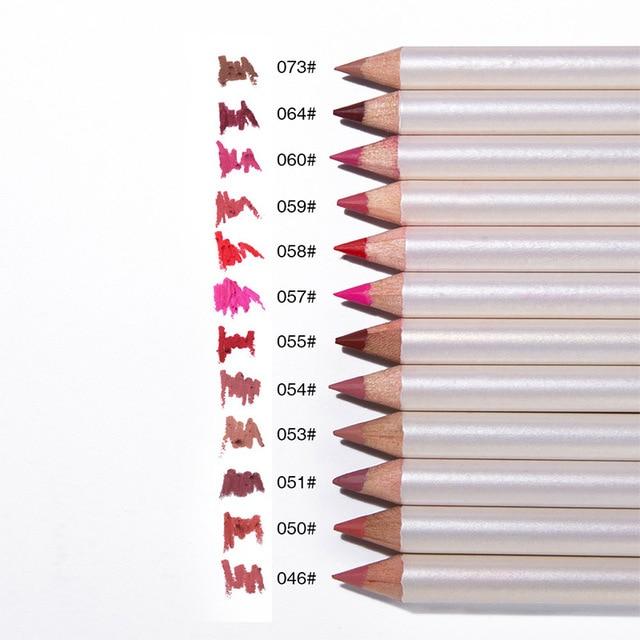 MENOW 12 Colors/Set Lip Liner Sexy Lips Pencil Matte Soft Lipstick Pencil Matt Nude Lipsliner Pen Beauty Makeup Tool Cosmetics 2