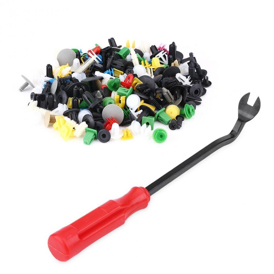 500pcs Assorted Plastic Car Door Trim Clip Fastener Retainer Rivet Push Pin Kit W/ Screwdriver new