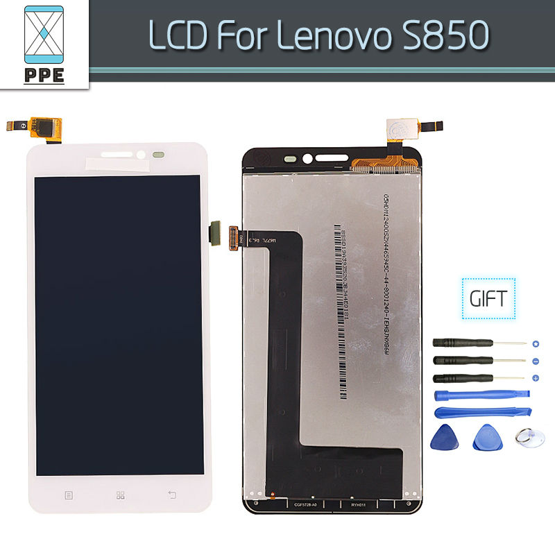 Подробнее о New Tested LCD For Lenovo S850 S850T LCD Display with Touch Screen Digitizer Assembly Pantalla Replacement+Tools free shipping 1 pcs 100% tested new lcd for lenovo s580 lcd display screen touch digitizer screen assembly tools free shipping