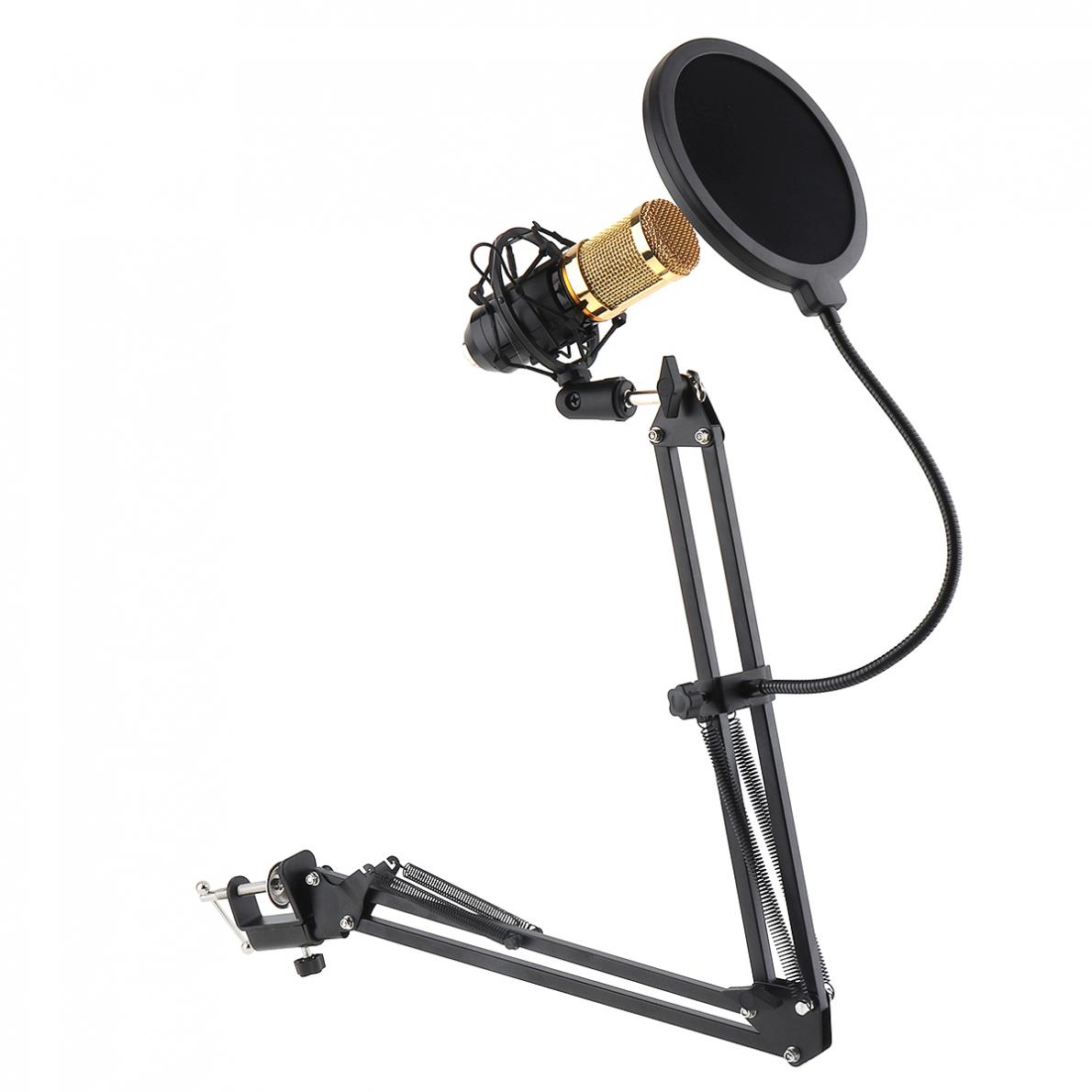 Black NB-35 Microphone Scissor Arm Stand Mic Clip Holder With Desktop Alloy Base Clampfor KTV Studio