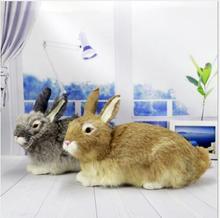 WYZHY simulation white rabbit animal model home soft decoration desktop photography props  22x33CM