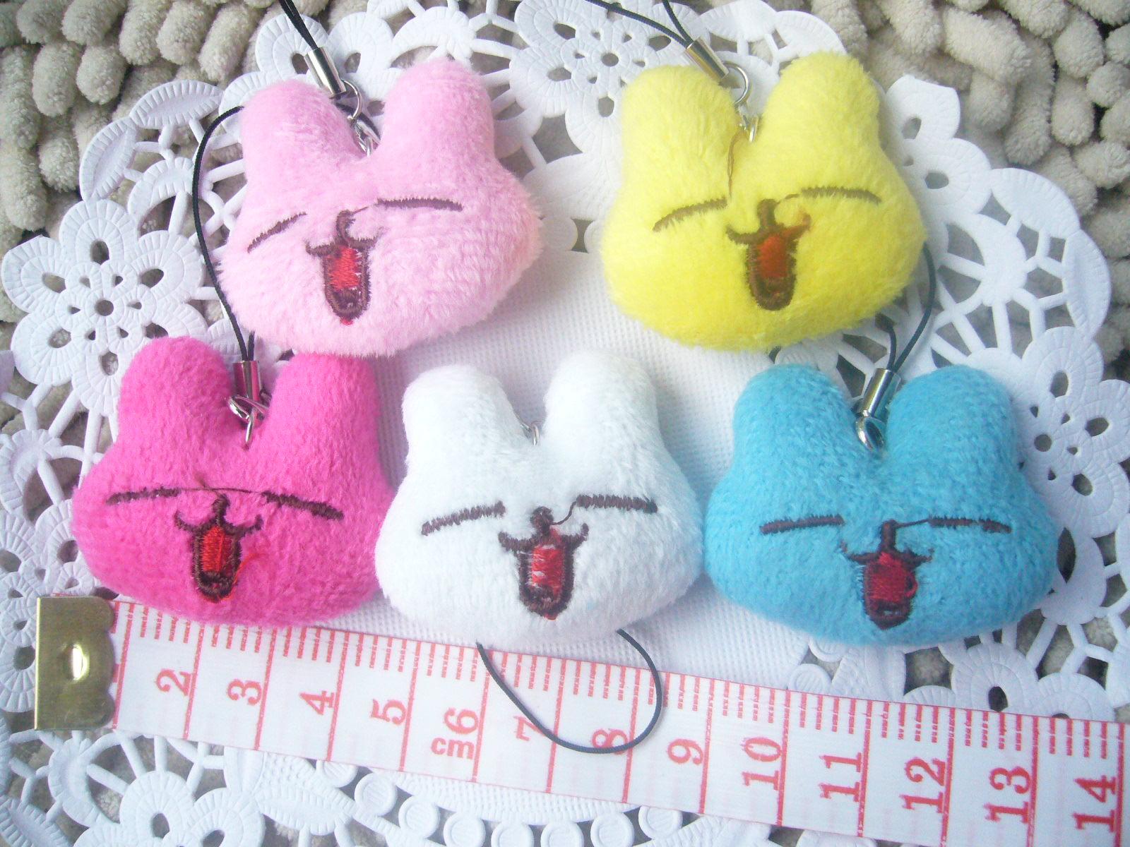 Bonecos de brinquedo de pelúcia boneca coelho presentes de casamento pequeno pingente de celular