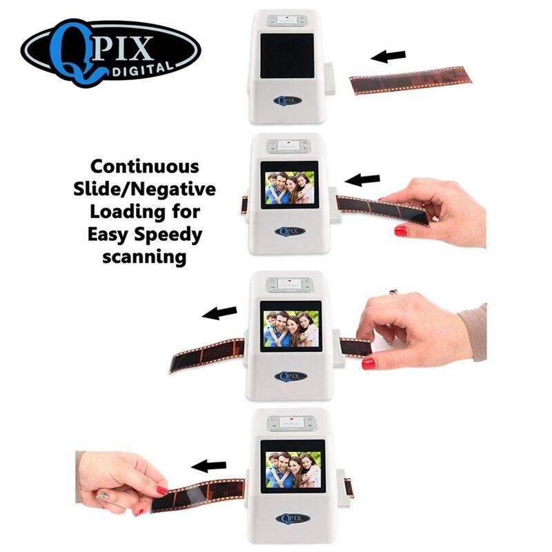 Portable 35mm Film Scanner Digital Film Converter with 22 Mega Pixels 110 135 126KPK Super 8 Negative Slide Photo Film Scanner