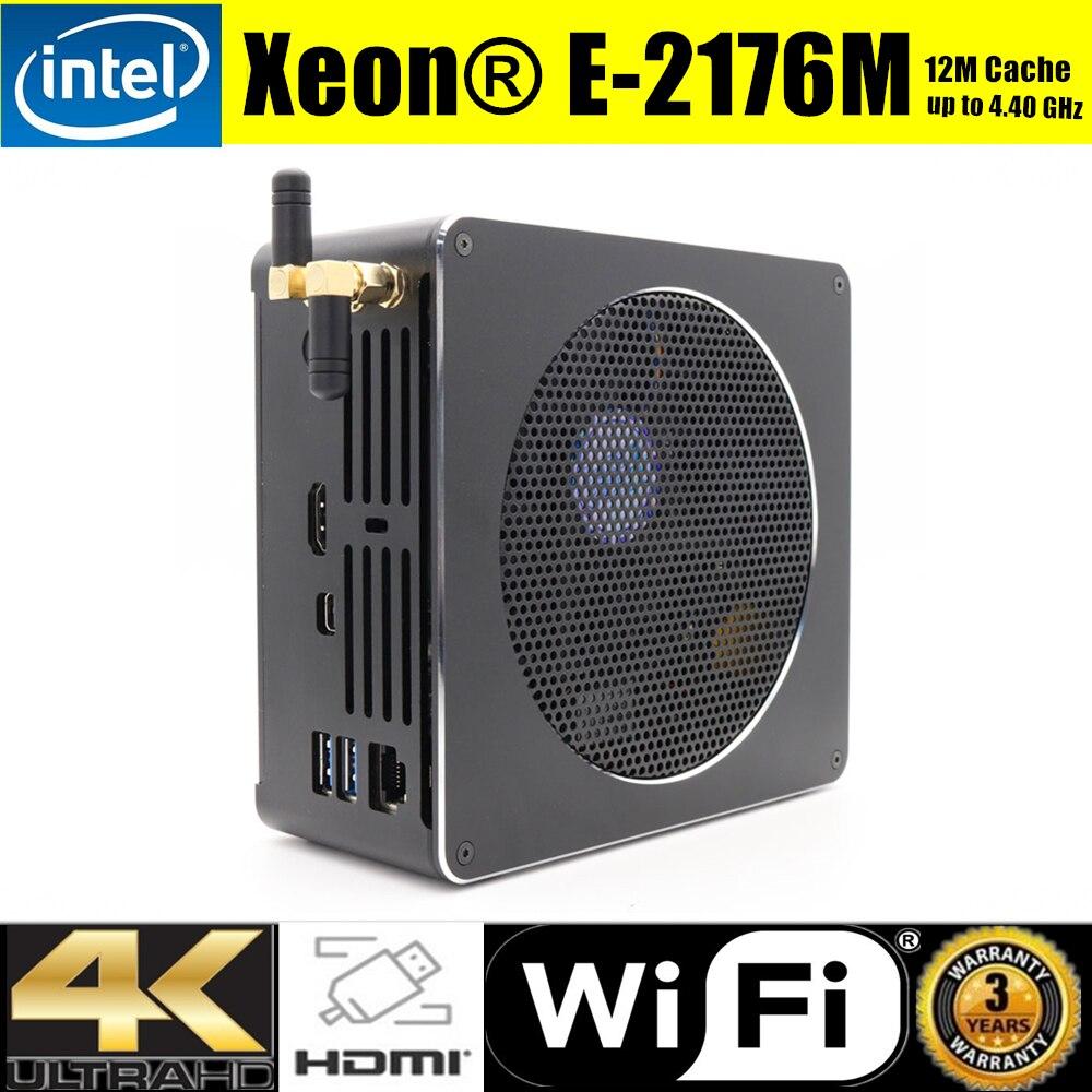 8th Gen Mini PC Intel Xeon E 2176M i7 8750H 6 Core 12 Threads 2 DDR4