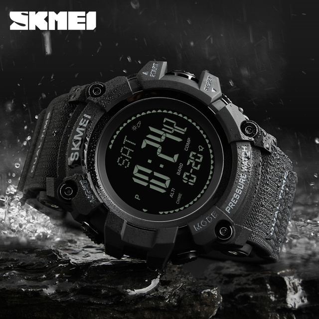 New Mens Sports Watches SKMEI Brand Outdoor Digital Watch Hours Altimeter Countdown Pressure Compass Thermometer Men Wrist Watch 2