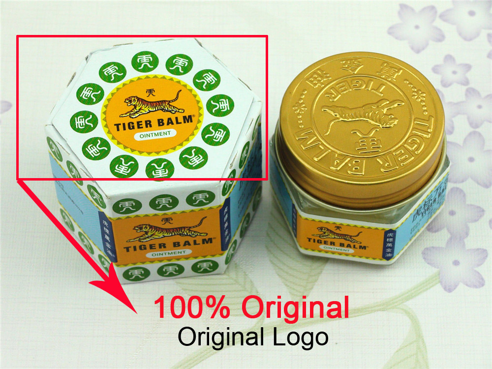 100% Sumifun Original 19.4g White Tiger Balm Ointment Thailand Painkiller Muscle Pain Relief Soothe itch/Carsickness C102