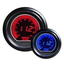 Авто 2.5 «60 мм Цифровой Цветной Аналоговый ЖК-Воздух/Топливо Монитор Гонки Калибр