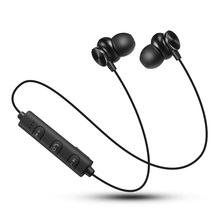 Asli Metal Magnetic Bluetooth 4.2 Earphone Headset Sukan Bergerak Wireless Bluetooth Headphone Dengan Mikrofon Untuk Telefon