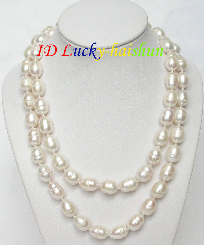 Vente de bijoux>>> nouveau collier de perles blanches baroques naturelles de 32
