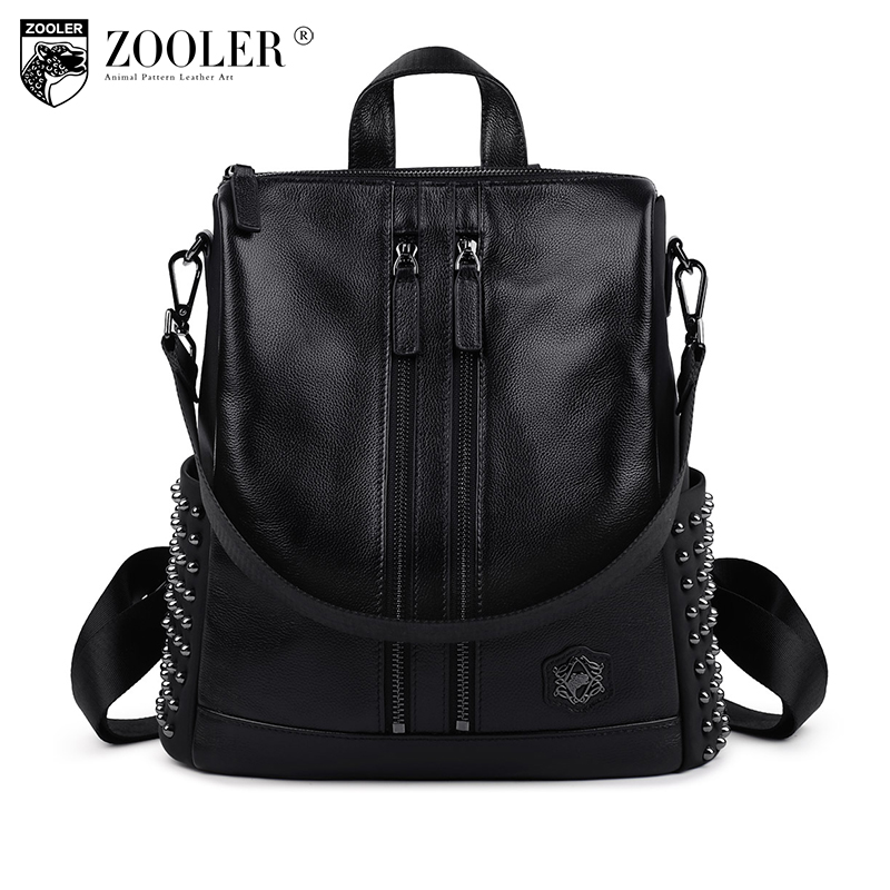 ZOOLER 2017 new listed fashion women leather backpack genuine leather bag versatile top quality backpacks elegant for lady 2382 zooler 2017 new quality