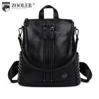 2016 Women Leather Backpack Genuine Leather Bag Versatile Top Quality Backpacks Elegant For Lady 2382