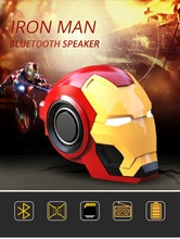 Iron Man Bluetooth Speaker & Radio Wireless Bluetooth V4.2 Speakers With Music MP3 With FM Radio Support TF Card For Phone PC css led stage light with wireless bluetooth speaker support tf card music fm radio with usb for parties dj etc black