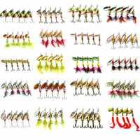 HENGJIA 10pcs formato Misto di Paillettes In Metallo Spinnerbait Cucchiaio di Richiamo di Pesca Esca Attrezzatura Da Pesca 20 tipi pesca peche giappone richiamo pesca