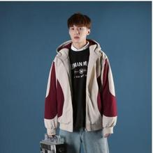 2018 Winter New Mens Cotton Clothing Fashion Casual Loose Hooded Jacket Tide Male Personality Wild Youth Popular