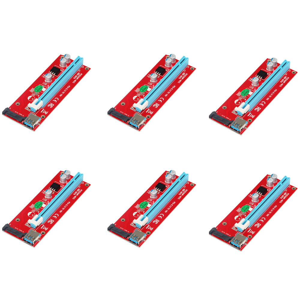 0,6 Mt Pci-e 1x Zu 16x Riser Card Extender Pci Express Adapter Usb 3.0 15pin Professionelle Sata Für Bitcoin Mining Pc Weniger Teuer