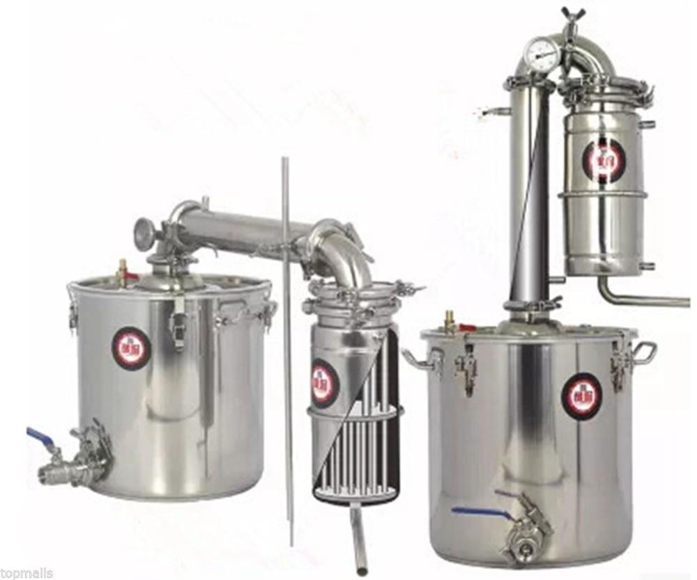 Free shipping 20L 30L 50L Liters 5 Gal Transformer Wine Maker Brew Alcohol Distiller Household Stainless Steel Moonshine Still