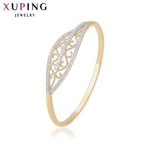Xuping модный браслет, очаровательный подарок, модный синтетический кубический цирконий, браслет, ювелирное изделие, золото для женщин, оптова...
