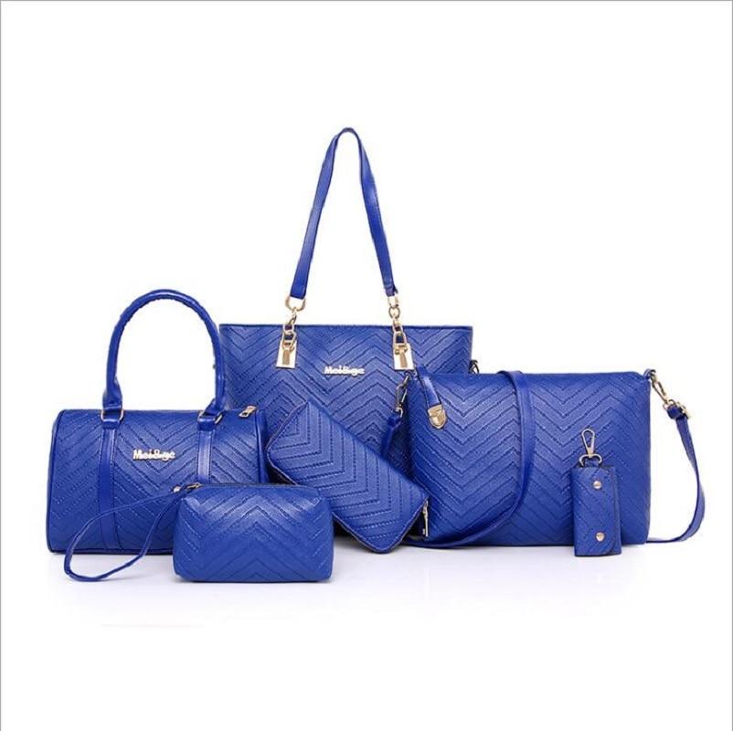 Nouvelle marque de luxe dame sac à main 6 pièces/ensemble Composite sacs ensemble femmes épaule sac à bandoulière pochette femme sac à main pochette portefeuille