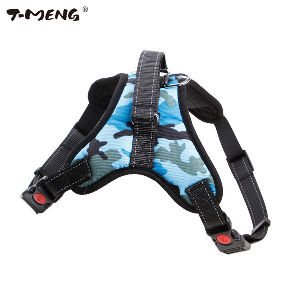 T-MENG Dog Harness Vest Per Medium Large Cani Riflettente Camouflage Oxford Panno Piccolo Pet Dog Harness K9 Pet Products Fornitore