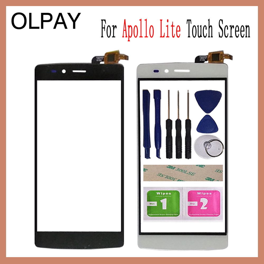 OLPAY 5.5'' Touch Screen For Vernee Apollo Lite Touch Screen Digitizer Panel Front Glass Lens Sensor Tools Adhesive+Wipes