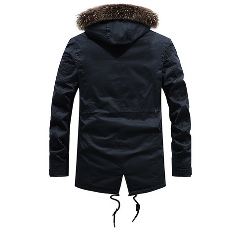 Thick Warm Parka Men Military Winter Jacket Men Long Coats Hooded Mens Parkas Fur Collar Outwear Casual Coat Male Size L-3XL Islamabad