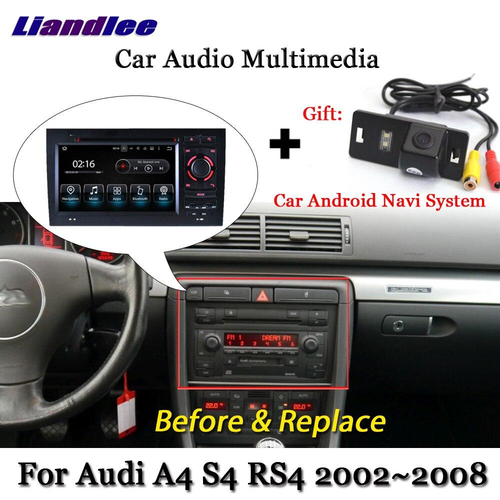 купить Liandlee Car Android System For Audi A4 S4 RS4 B7 2002~2008 Radio DVD TV Carplay Camera GPS Navi Navigation BT Screen Multimedia по цене 27483.91 рублей