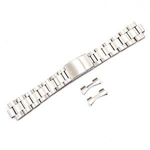 Image 4 - Rolamy 19 20 مللي متر أعلى درجة فضي ناعم 316L الصلبة الفولاذ المقاوم للصدأ حزام (استيك) ساعة حزام حزام أساور من المحار