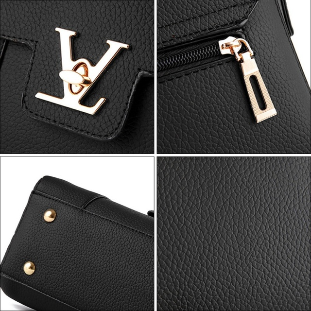 eae33550bb1 Flap V Women's Luxury Leather Clutch Bag Lady Handbags Brand Female  Messenger Bags Sac A Main Femme Famous Tote Bag Freya Safi