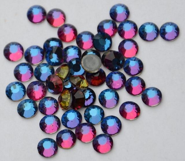 1440pcs/Lot, High Quality ss20 (4.8-5.0mm) Crystal Volcano Hotfix Rhinestones / Iron On Flat Back Crystals 1440pcs lot ss16 3 8 4 0mm high quality dmc jet black iron on rhinestones hot fix rhinestones
