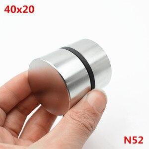Image 1 - Magnete al neodimio 40x20 2pcs terre rare super forte potente ciclo di saldatura di ricerca permanente magnete 40*20mm gallio metallo magnete