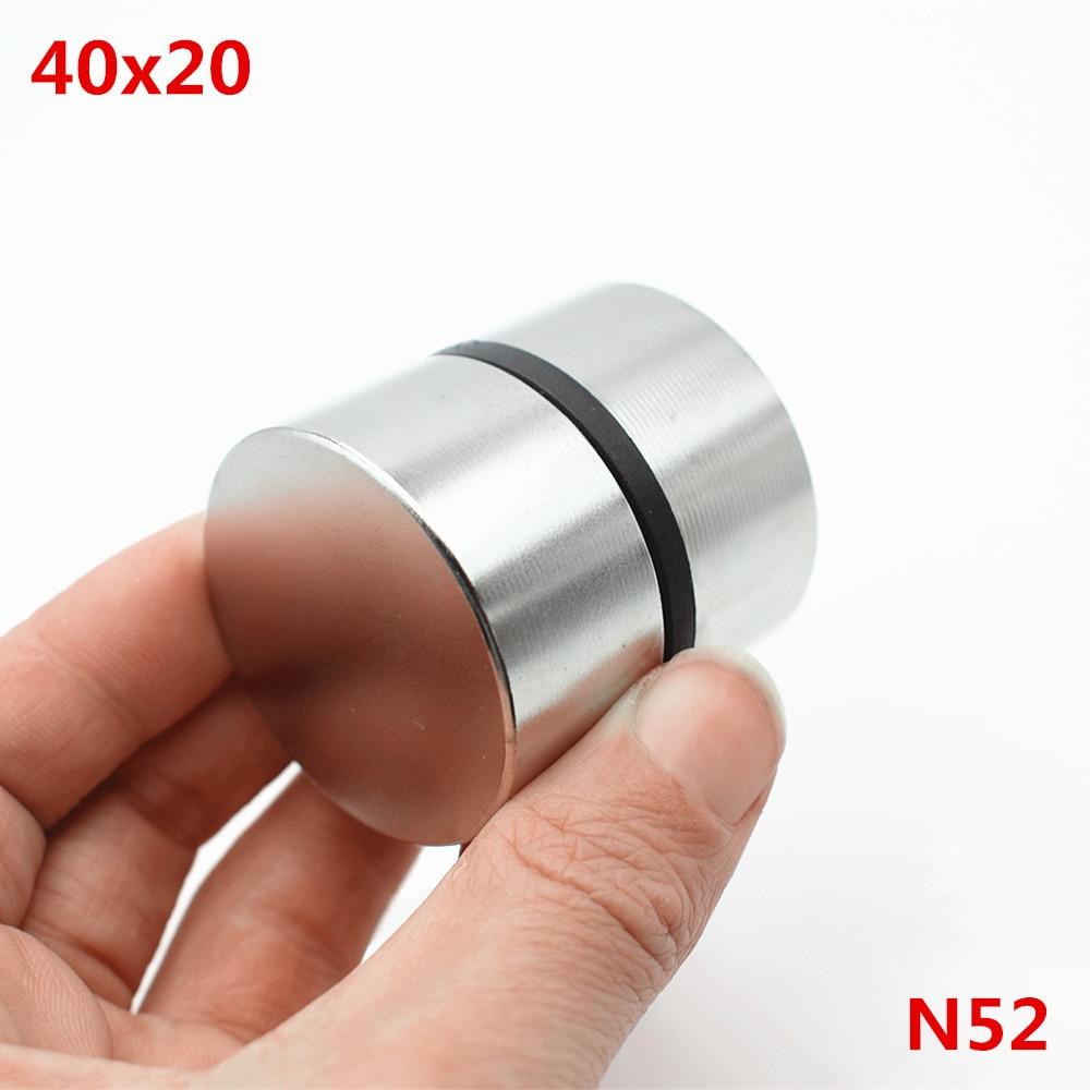 Neodym magnet 40x20 2 stücke rare earth super starke leistungsstarke runde schweißen suche permanent magnet 40*20mm gallium metall magnet