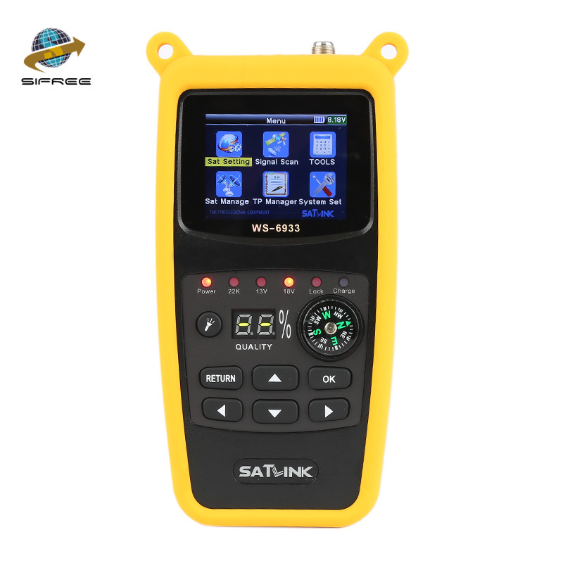 цена на Hot sale SATLink WS-6933 WS-6906 FTA Satellite Ultra-Fast Compact DVB-S DVB-S2 Signal Satellite Finder Meter localizador Satlink