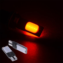 2 ШТ. Белый и Красный T10 Cob 194 168 921 W5W 2825 Замена Лампочки Лампы