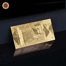 Souvenirs Kuwait 1 Dinar Gold Banknote Particular Gold Plated Banknote Gift For Value Gifts(China)