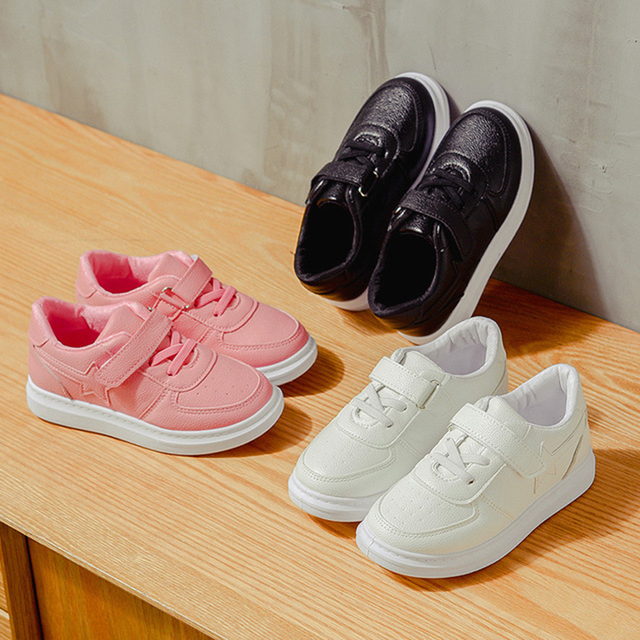 7250375a2686 White Black Pink Kids Children Little Girls Boys Breathble Sport Shoes For  Teens Girls Boys School Sneakers Casual Shoes 23