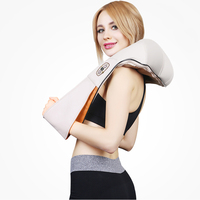 Home Car Electrical Body Massager Relaxation Massage U Shape Neck Back Shoulder Shiatsu Infrared 4D Kneading