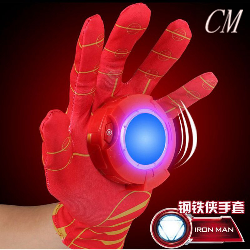 2017 New Cosplay Avengers Toy Cartoon Interesting Iron Man Glove Emitter Flash Sound Action Figure Toys For Children Gifts в москве травматический револьвер таурус
