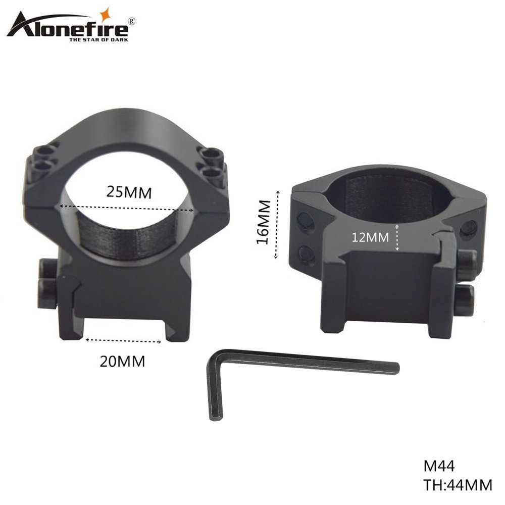 AloneFire M44 25mm Scope Mount Ring Profile 20mm Rail Hunting Accessories Extension Picatinny Weaver Mount
