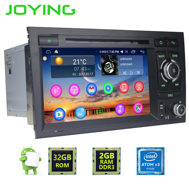 US $329 99 |Joying Best Android 6 0 car stereo head unit for Audi A4 2GB  RAM car radio GPS player HD BT multimedia system for Audi A4 S4 SR4-in Car