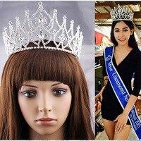 Büyük boy vintage prenses kristal rhinestone tiara gelin saç takı saç kraliçe yarışmasında tiaras ve taçlar
