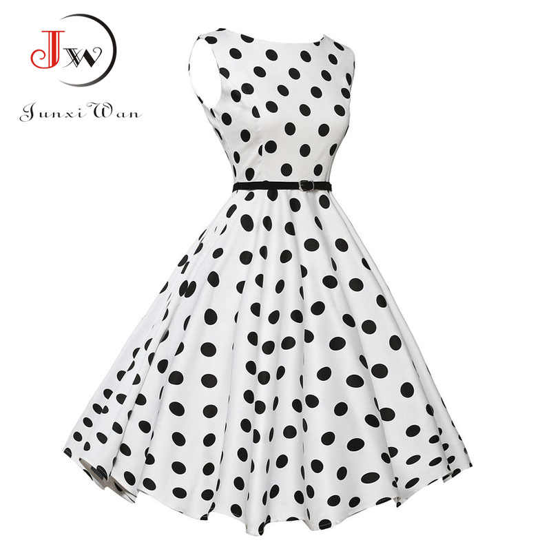 8b1d8ede08 Detail Feedback Questions about Summer Dress Vintage Rockabilly Dresses 60s  50s Retro Swing Polka Dot Pinup Long Audrey Hepburn Dress Plus Size Vestidos  on ...